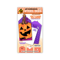 Art Impressions - Stamp and Die Set - Pumpkin Gift Card Holder