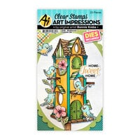 Art Impressions - Cubbies Collection - Stamp and Die Set - Birdhouse