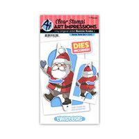 Art Impressions - Stamp and Die Set - Santa Twister