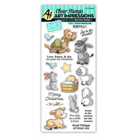 Art Impressions - Stamp and Die Set - Animal Nativity