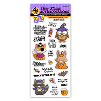 Art Impressions - Stamp and Die Set - Halloween Critters