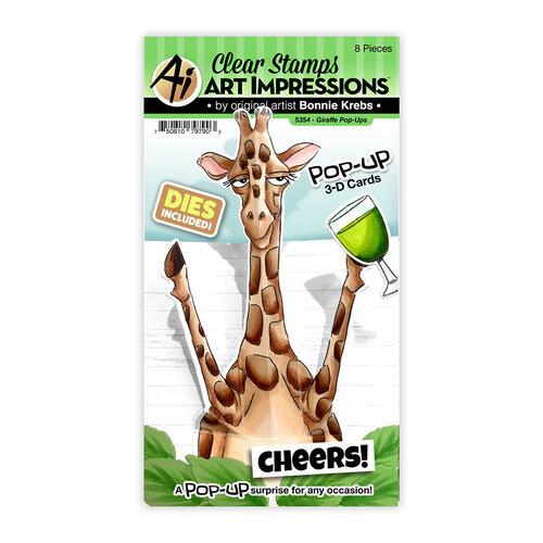 Art Impressions - Stamp and Die Set - Giraffe Pop-Ups