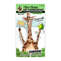 Art Impressions - Stamp and Die Set - Giraffe Pop-Ups