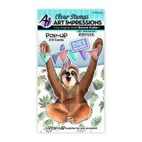 Art Impressions - Stamp and Die Set - Sloth Pop-Ups