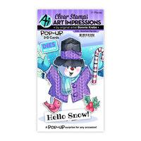 Art Impressions - Stamp and Die Set - Snowman Pop-Ups