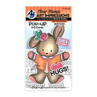 Art Impressions - Stamp and Die Set - Bunny Pop-Ups