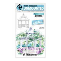 Art Impressions - Watercolor Collection - Stamp and Die Set - Gazebo