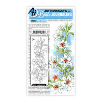 Art Impressions - Clear Photopolymer Stamps - Lily Border