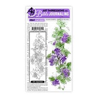 Art Impressions - Clear Photopolymer Stamps - Grape Border