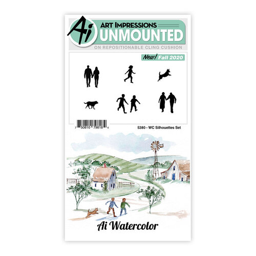 Art Impressions - Watercolor Collection - Clear Photopolymer Stamps - Silhouettes