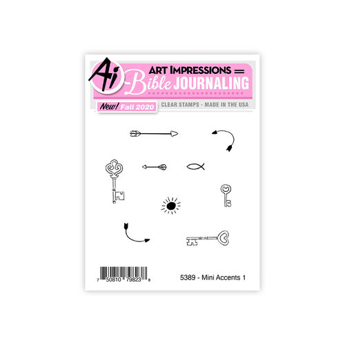 Art Impressions - Clear Photopolymer Stamps - Mini Accents 1