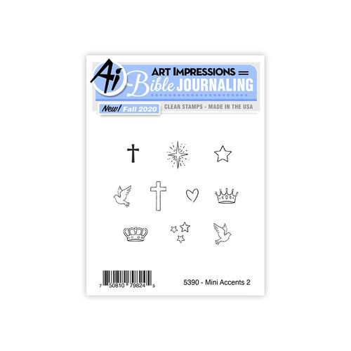 Art Impressions - Clear Photopolymer Stamps - Mini Accents 2