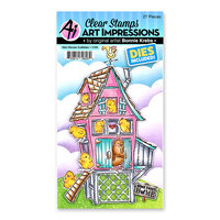 Art Impressions - Cubbies Collection - Stamp and Die Set - Hen House