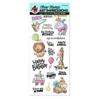 Art Impressions - Stamp and Die Set - Baby Critters