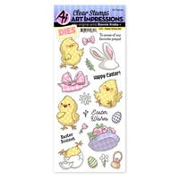 Art Impressions - Easter Collection - Stamp and Die Set - Easter Chicks