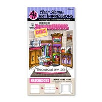 Art Impressions - Stamp and Die Set - Matchbook Sewing Room