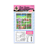 Art Impressions - Windows to the World Collection - Stamp and Die Set - Mailbox Window Accessory Set