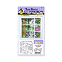 Art Impressions - Windows to the World Collection - Stamp and Die Set - Bridge Window Accessory Set