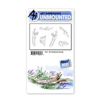 Art Impressions - Watercolor Collection - Unmounted Rubber Stamp Set - Weathered Stumps
