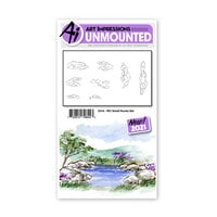 Art Impressions - Watercolor Collection - Unmounted Rubber Stamp Set - Small Rocks