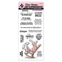 Art Impressions - Laugh Lines Collection - Clear Photopolymer Stamps - Rock On