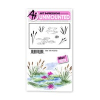 Art Impressions - Watercolor Collection - Unmounted Rubber Stamp Set - Pond