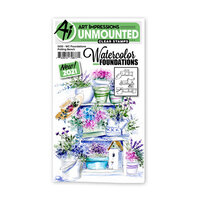 Art Impressions - Watercolor Foundations Collection - Clear Photopolymer Stamps - Potting Bench