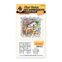 Art Impressions - Windows to the World Collection - Stamp and Die Set - Autumn Window