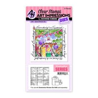 Art Impressions - Windows to the World Collection - Stamp and Die Set - Special Window