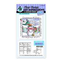 Art Impressions - Christmas - Windows to the World Collection - Clear Photopolymer Stamps - Snowy Window