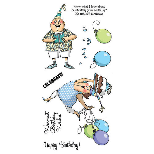 Art Impressions - Clear Photopolymer Stamp Set - Birthday Wishes