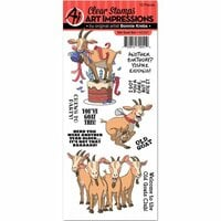 Art Impressions - Funny Farm Collection - Clear Photopolymer Stamp Set - Old Goat