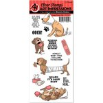 Art Impressions - Funny Farm Collection - Unmounted Rubber Stamp Set - Doggy Kisses