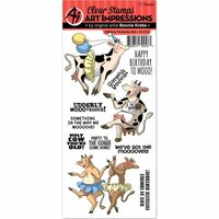 Art Impressions - Funny Farm Collection - Clear Photopolymer Stamp Set - Udderly Fantastic