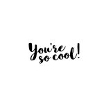 Art Impressions - Girlfriends Collection - Unmounted Rubber Stamp Set - You're So Cool