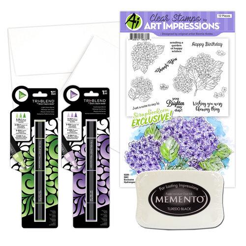 Art Impressions - Clear Photopolymer Stamp Set - Hydrangeas Card Making Bundle One