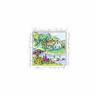 Art Impressions - Windows to the World Collection - Unmounted Rubber Stamp Set - Swans