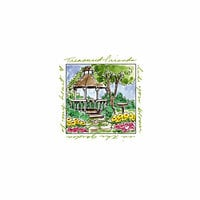 Art Impressions - Windows to the World Collection - Unmounted Rubber Stamp Set - Gazebo