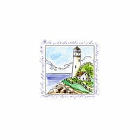 Art Impressions - Windows to the World Collection - Unmounted Rubber Stamp Set - Lighthouse