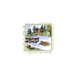 Art Impressions - Windows to the World Collection - Unmounted Rubber Stamp Set - Lake House