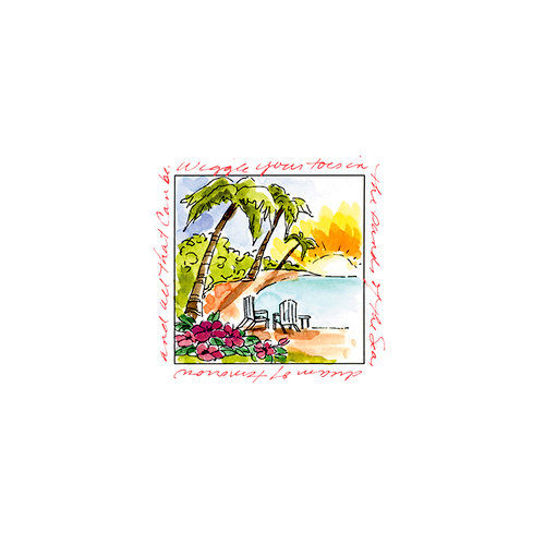 Art Impressions - Windows to the World Collection - Unmounted Rubber Stamp Set - Island