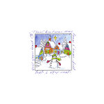 Art Impressions - Windows to the World Collection - Unmounted Rubber Stamp Set - Christmas Village