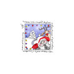 Art Impressions - Windows to the World Collection - Christmas - Unmounted Rubber Stamp Set - Santa