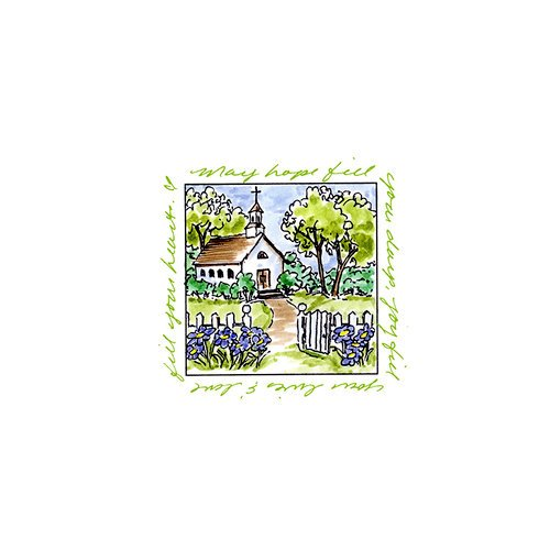 Art Impressions - Windows to the World Collection - Unmounted Rubber Stamp Set - Chapel
