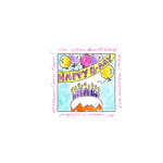 Art Impressions - Windows to the World Collection - Unmounted Rubber Stamp Set - Birthday Banner
