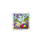 Art Impressions - Windows to the World Collection - Unmounted Rubber Stamp Set - Easter Egg Nest