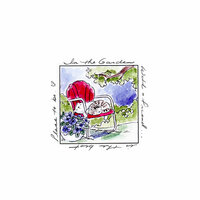 Art Impressions - Windows to the World Collection - Unmounted Rubber Stamp Set - With a Friend Window