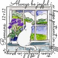 Art Impressions - Windows to the World Collection - Unmounted Rubber Stamp Set - Be Joyful