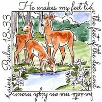 Art Impressions - Windows to the World Collection - Unmounted Rubber Stamp Set - Deer