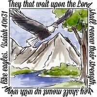 Art Impressions - Windows to the World Collection - Unmounted Rubber Stamp Set - Eagles